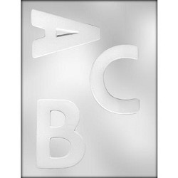 Large Letters Chocolate Mold: A B C