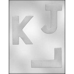 Large Letters Chocolate Mold: J K L