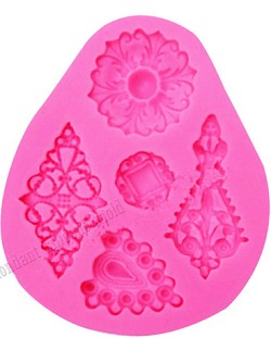 Brooch Silicone Mold 5pc