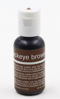 Chefmaster Liqua Gel 0.70oz : Buckeye Brown