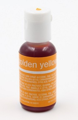 Chefmaster Liqua Gel 0.70oz : Golden Yellow