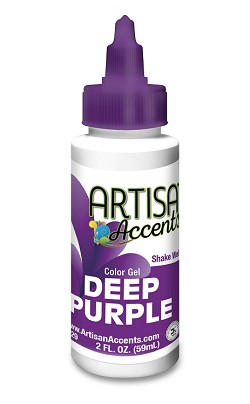 Deep Purple Artisan Accents Gel Color