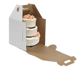 12x12x14 Tall Cake Boxes With Handle Set of 10