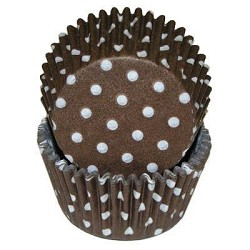 Brown Polka Dot Standard Cupcake Liners 25 Count