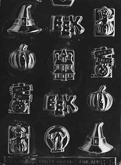 Halloween Assorted With Hat Chocolate Mold