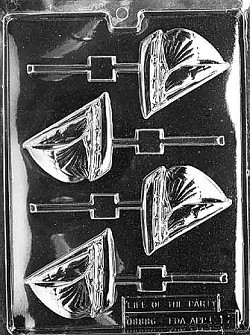 Sailboat Sucker Chocolate Mold