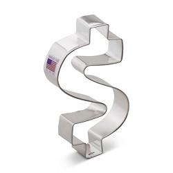 "5"" Dollar Sign Cookie Cutter"