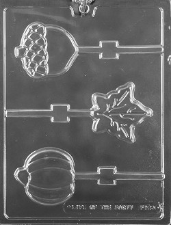 Fall Assortment Lolly Chocolate Mold