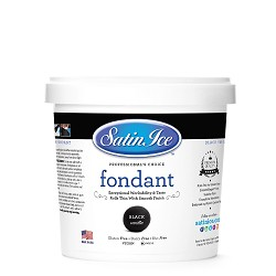 Satin Ice Black Fondant 2LB