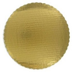 Round Gold Scalloped Plates 10""