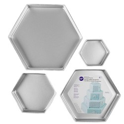 Wilton Hexagon Pan Set 4 pcs