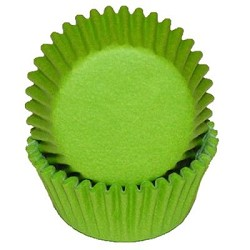 MINI Lime Green Cupcake Liners 100 Count