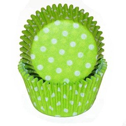 Lime Green Polka Dot Standard Cupcake Liners 25 Count