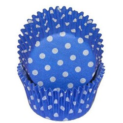 Blue Polka Dot Standard Cupcake Liners 25 Count