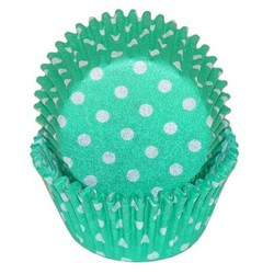 Green Polka Dot Standard Cupcake Liners 25 Count
