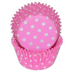Hot Pink Polka Dot Standard Cupcake Liners 25 Count