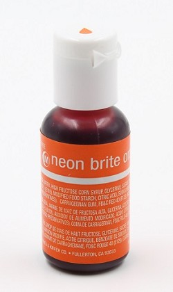 Chefmaster Liqua Gel 0.70oz : Neon Brite Orange