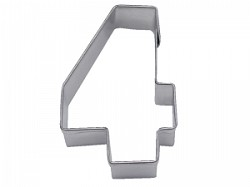 "Number 4 Cookie Cutter  3"" Tall"