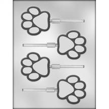 Paw Print Sucker Chocolate Mold
