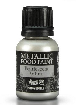 Rainbow Dust Edible Paint : Pearlescent White