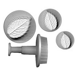 PME Rose Leaf Veined Plunger/ Cutter Set