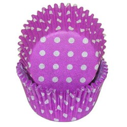 Purple Polka Dot Standard Cupcake Liners 25 Count