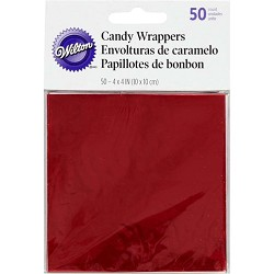 Red Foil Wrappers 50pcs