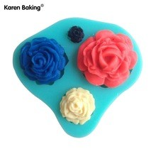 Rose 4pc Silicone Mold