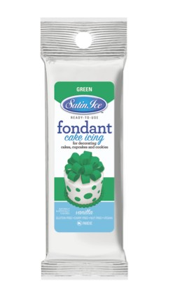 Satin Ice Green Fondant 4oz