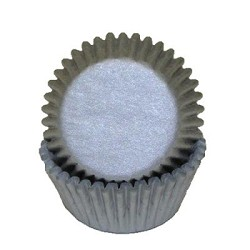 MINI Silver Standard Cupcake Liners 100 Count
