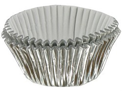 Mini Silver Foil Cupcake Liners 100 Count
