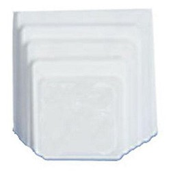 "8"" Square Greaseproof Corrugated Plate- 6 PK"