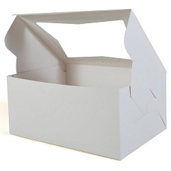 "10"" x 10"" x 5"" White Window Box 10PK"